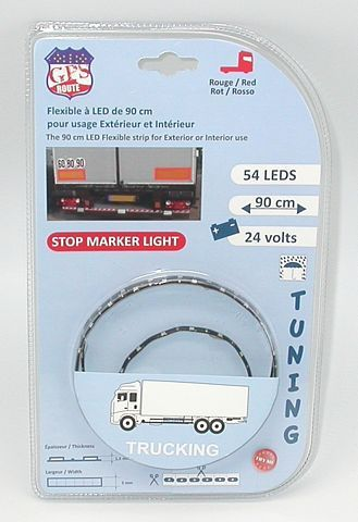 615900 BANDE FLEXIBLE ADH_ 54 LEDS 90CM 24V ROUGE