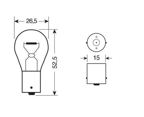 Ampoule PY21W 24V ORANGE