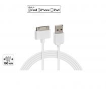 Câble APPLE 30 pin + 1 port USB 3000 mA
