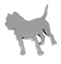 Emblème chromé adhésif DOG