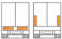 Plaque rétroréfléchissante arrière 565 x 200 x 1 mm