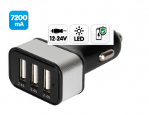 Prise allume-cigare 3 ports USB FAST CHARGE