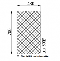 Tapis anti-projections 430 x 700 mm