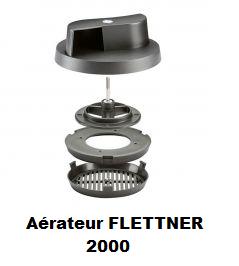 ADAPTATEUR AERATEUR ROTATIF DE TOIT UNIVERSEL FLETTNER