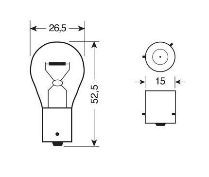 Ampoule clignotant orange 21W 24V