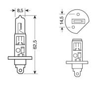 Ampoule H1 24V 70W BLU-XE