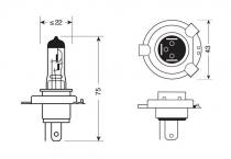Ampoule H4 24V 70W HALOGENE