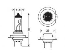 Ampoule H7 70W 24 V HALOGENE