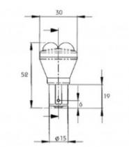 Ampoule R5W BA15s 24 V LED