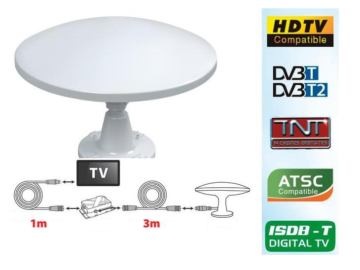Antenne de télévision omnidirectionnelle 300 mm