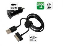 Chargeur allume-cigare pour tablettes SAMSUNG + 1 port USB