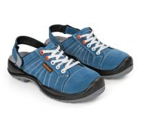 Chaussures SANDALES BASKET en daim bleu