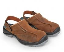 Chaussures-SANDALES en cuir marron