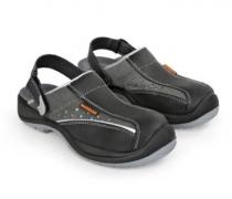 Chaussures/sandales noires de sécurité en cuir - 38 au 41