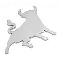 Emblème chromé adhésif TAUREAU