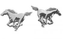 Emblèmes chromés adhésifs CHEVAUX