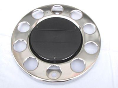 Enjoliveur de roue Inox avec intérieur noir