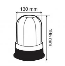 Gyrophare bi-tension à base plate