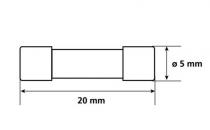 Lot de 6 fusibles en verre faible intensité