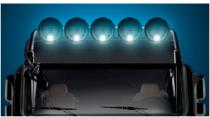 Phare circulaire halogène avec feu de position