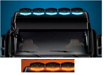 Phare rectangulaire halogène avec feu de position LED