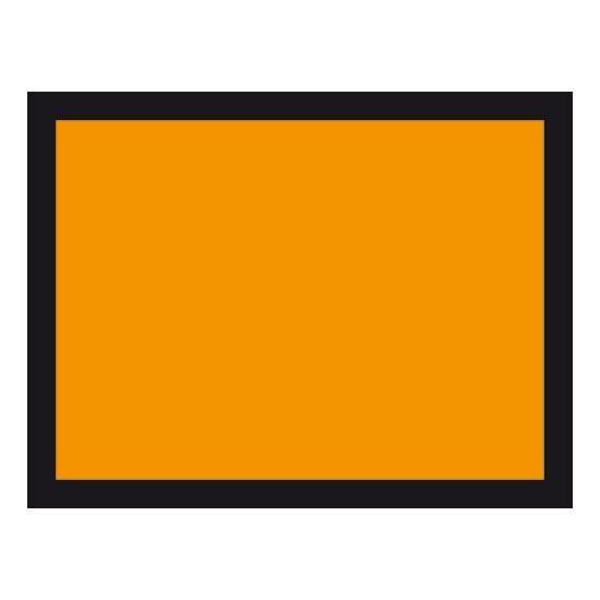Plaque orange galvanisé