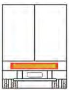 Plaque rétroréfléchissante 1130 x 200 x 2 mm