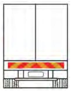 Plaques rétroréfléchissantes arrière 1130 x 140 x 2 mm