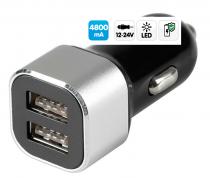 Prise allume-cigare avec  2 ports USB 4800 mA