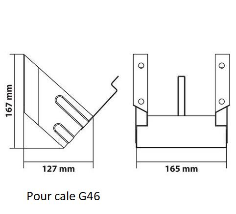 Support de cale de roue