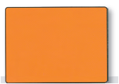Support plaque orange format 400 x 300 mm